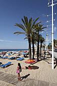 Beach life, Costa Blanca, Benidorm, Province Alicante, Spain
