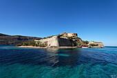 Venetian fortress, Island of Spinalonga, Lasithi prefecture, Gulf of Mirabella, Crete, Greece