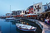 Old venetian port in the evening, Rethymnon, Crete, Greece