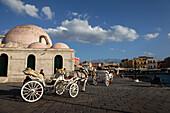 Turkish Mosque Yiali Tzami, Venetian port, Chania, Crete, Greece