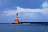 Lighthouse, Venetian port, Chania, Crete, Greece