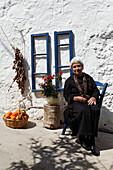 Woman, Old  Souda, Chania Prefecture, Crete, Greece