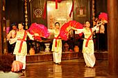 Traditional performance, handicraft workshop, Hoi An, Annam, Vietnam