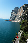 Car, National Highway Gardesana Occidentale, Quayside, Lake Garda, Lombardy, Italy