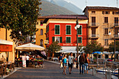 People strolling, Malcesine, Lake Garda, Veneto, Italy