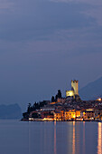 Evening mood, Malcesine, Lake Garda, Veneto, Italy