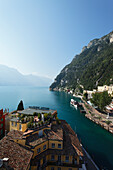 Paddle Steamboat, Excursion boat, Riva, view over Lake Garda, Trento, Italy