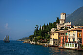 Scaliger Castle, Lakeside, Malcesine, Lake Garda, Veneto, Italy