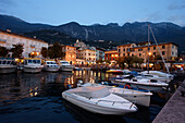 Boats at the harbor, Malcesine, Lake Garda, Veneto, Italy