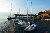Boats at Harbor, Torri del Benaco, Lake Garda, Veneto, Italy