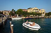 Pier, Sirmione, Lake Garda, Veneto, Italy