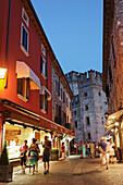 Scaliger Castle, Alley, Sirmione, Lake Garda, Veneto, Italy