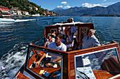 Excursion boat, Lake Como, Cadenabbia, Lombardy, Italy