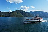 Paddle Wheel Steamer, Tremezzo, Lake Como, Lombardy, Italy