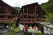 Hiking, Walser hut, Museum,  Alagna, Valsesia, Piedmont, Italy