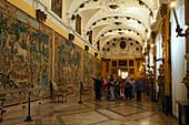 Tourists, Borromean Palazzo, Isola Bella, Stresa, Lago Maggiore, Piedmont, Italy