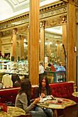 Women, Bicerin Cafe San Carlo, Turin, Piedmont, Italy
