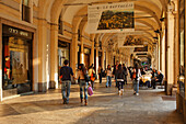 Covered pavement, Piazza San Carlo, Turin, Piedmont, Italy