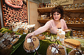 Nutcakes, Sales assistant, Truffle Fair, Alba, Langhe, Piedmont, Italy