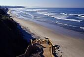 Beach access stairway, San Elijo State Park, CA