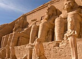 The colossal statues at Abu Simbel