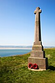 War Memorial on The Heugh Lindisfarne Northumberland England