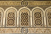 Decorative Stucco Work at the Bahia Palace, Marrakesh, Morocco, North Africa