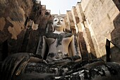 The large seated Buddha, Wat Si Chum, Sukhothai, Thailand