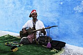 A Street Musician in the Kasbah des Oudaias, Rabat, Morocco, North Africa