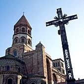 Saint Julien church. Brioude. France