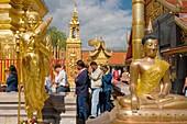 Buddha images in Wat Phrathat Doi Suthep Chiang Mai, Thailand