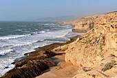 cliffs around Tamri on Atlantic Coast, between Agadir and Essaouira, Morocco, North Africa