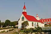 Capel of Tadoussac by Saint Lawrence river, Cote-Nord region, Province of Quebec, Canada, North America