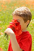 Boy with poppies