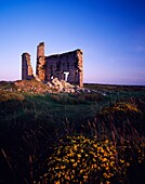 An old engine house ruin at the New Phoenix Mine, also known as the Silver Valley Mine, on Bodmin Moor, Minions, Cornwall, England, United Kingdom