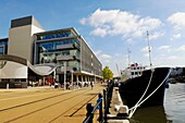 The cruise ship Harmony II berthed at Hannover Quay in the Bristol Floating Harbour, Bristol, England, United Kingdom