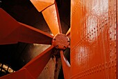 Replica of Brunel's original 6 bladed propeller and rudder in position at the stern of the SS Great Britain, Bristol, England, United Kingdom