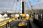 The deck of the SS Great Britain in Great Western Dockyard, Bristol, England, United Kingdom
