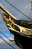 The iron bow of the SS Great Britain in the Great Western Dockyard, Bristol, England, United Kingdom