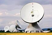 europe, germany, bavaria, the satellite aerials of raisting