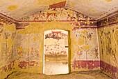 europe, italy, lazio, tarquinia, necropolis of monte calvario, tomb of the hunting and fishing, 520-510 BC