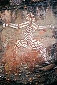Aboriginal rock art, Nourlangie Rock, Kakadu, Northern Territory