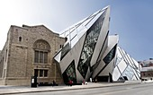 Travel stock photo of ROM Royal Ontario Museum and Cristal Michael Lee-Chin Crystal Modern addition to the museum in high-tech style made from glass and aluminium Toronto Ontario Canada 2007 This image is available in higher resolution 13600 pixels long