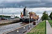 Sluice Station for the Kiel Canal, Brunsbuettel, Schleswig-Holstein, Germany