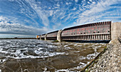 Eider barrage, Its main purpose is to protect against storm surges from the North Seas, Tönning, Schleswig-Holstein, Germany