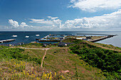 Harbours on the North Sea Island of Heligoland, Schleswig-Holstein, Germany