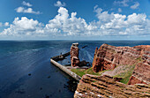 Long Anna is a 47 meters high pinnacle and landmark of the North Sea Island Heligoland, Schleswig-Holstein, Germany