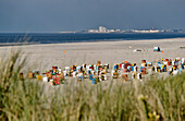 Main Beach with view towards Norderney, North Sea Island Juist, East Frisia, Lower Saxony, Germany