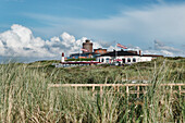 Water tower, Seawater Water Park and restaurant, North Sea Island Juist, East Frisia, Lower Saxony, Germany
