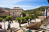Place de la liberation, Sartene, Corsica, France, Europe